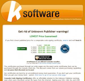 KSoftware Code Signing