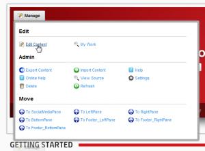 DotNetNuke Manage UI