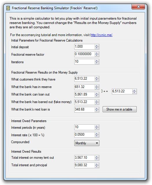 Frackin' Reserve - Fractional reserve banking simulator