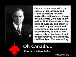 Once a nation parts with the control of its currency and credit, it matters not who makes the nations laws. Usury, once in control, will wreck any nation. Until the control of the issue of currency and credit is restored to government and recognized as its most sacred responsibility, all talk of the sovereignty of parliament and of democracy is idle and futile.