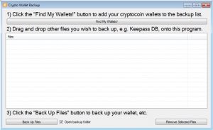 Crypto Wallet Backup basic program