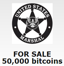 US Marshals Service Selling 50,000 Stolen Bitcoins